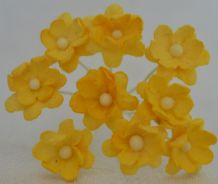YELLOW CHERRY BLOSSOM Mulberry Paper Flowers